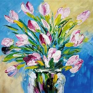 Tableau Fleurs Moderne : tableau bouquet de fleurs moderne no99 jornalagora ~ Teatrodelosmanantiales.com Idées de Décoration