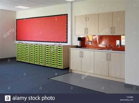 kitchen sink school area in a new school classroom shows sink and kitchen 2869