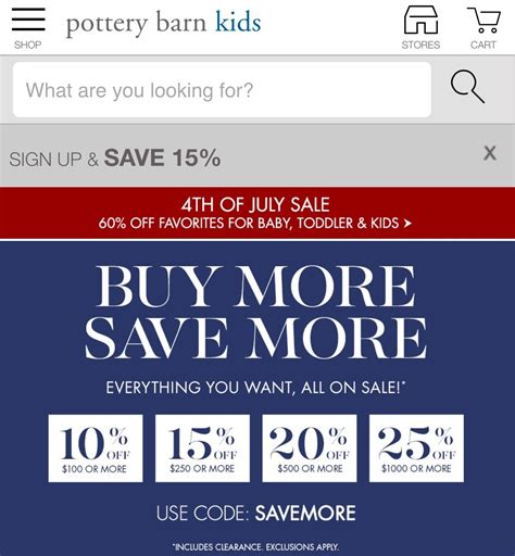 pottery barn promo code pottery barn coupons 15 2017 promo codes autos post