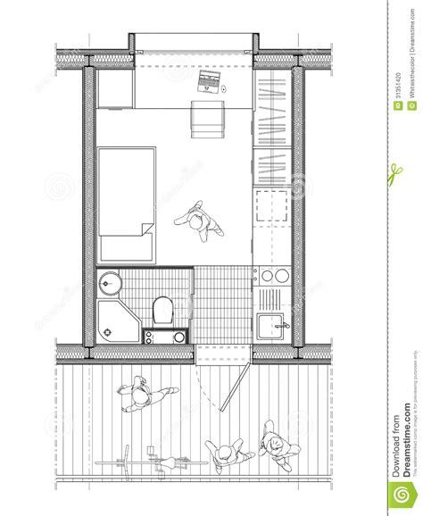 plan d une chambre d hotel plan technique d 39 une chambre d 39 étudiant photo stock