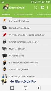 Netzwerke Berechnen : electrodroid android apps auf google play ~ Themetempest.com Abrechnung