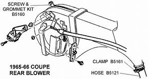 1965-66 Coupe Rear Blower - Diagram View
