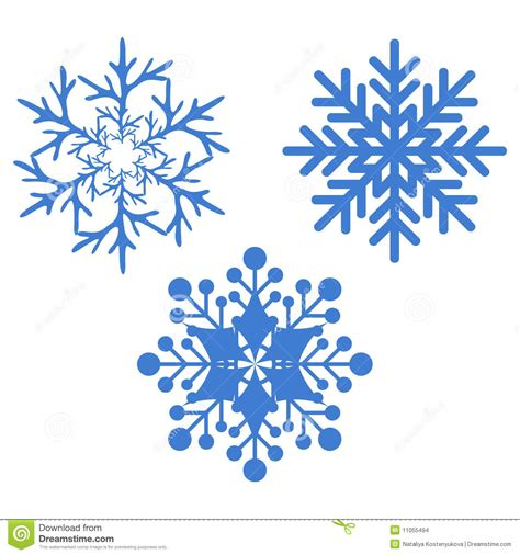 fiocco  neve illustrazione vettoriale illustrazione