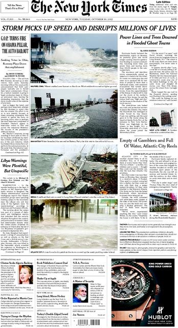 Disasters Batter Insurance Industry The York Times Eight Thoughts On Windstorm