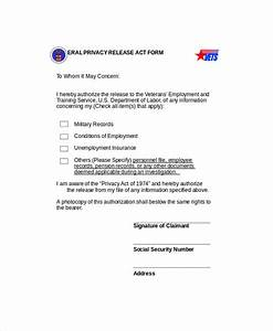 9 sample privacy act release forms sample templates With privacy release form template