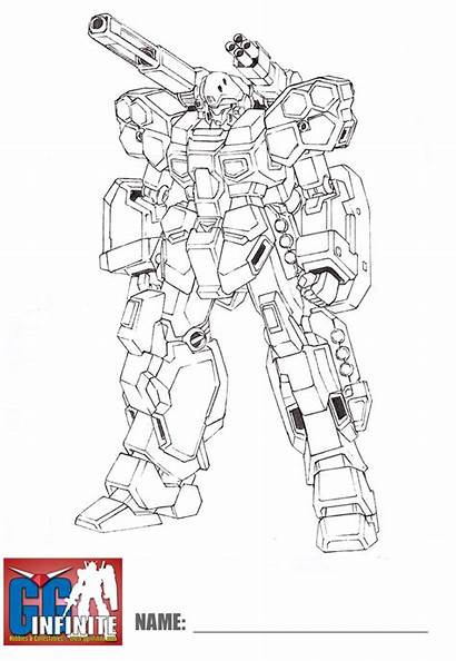 Gundam Coloring Pages Lineart Jesta Wing Mobile