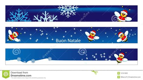 christmas web banner with a bee santa claus stock vector