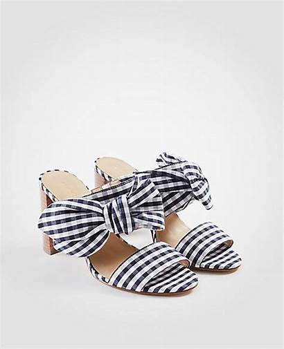 Shower Sandals Gingham Bow Anntaylor Outfit