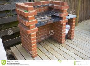 Brick BBQ Grill Made Of