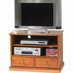 Meuble Tele Haut : meuble tv hifi sur roulettes merisier louis philippe beaux meubles pas chers ~ Teatrodelosmanantiales.com Idées de Décoration