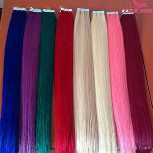 Wholesale Human Hair Tape In Hair Extensions Color Indian