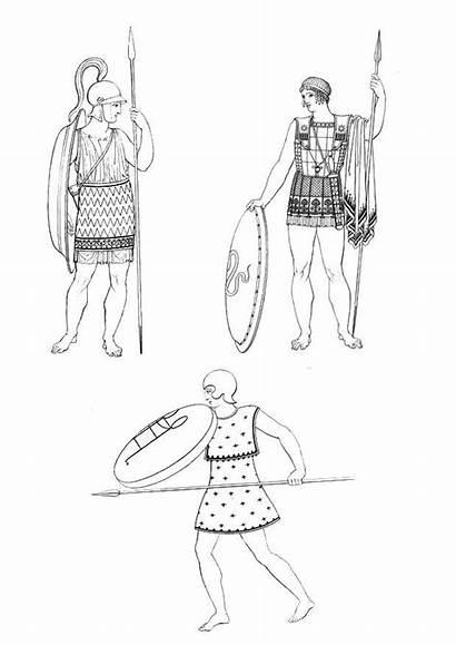 Colorare Colorear Grecia Griegos Antica Soldati Dibujo
