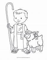 Shepherd Coloring David Pages Boy Sheet Shepard Sheets Crafts Bible Printable Jesus Sheep Lamb Preschool Template Holding Google Pastor Craft sketch template