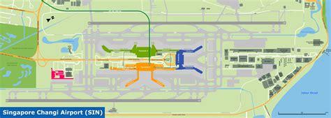 singapore changi airport map seacitymapscom