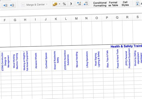 training matrix how to identify your needs with a simple spreadsheet construction skills