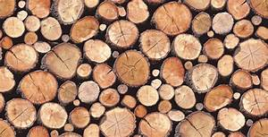 Wallpaper Wednesday: Stacked Logs Wallpaper from Albany