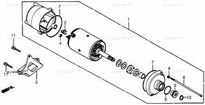 Honda Atv 1984 Oem Parts Diagram For Starter Motor