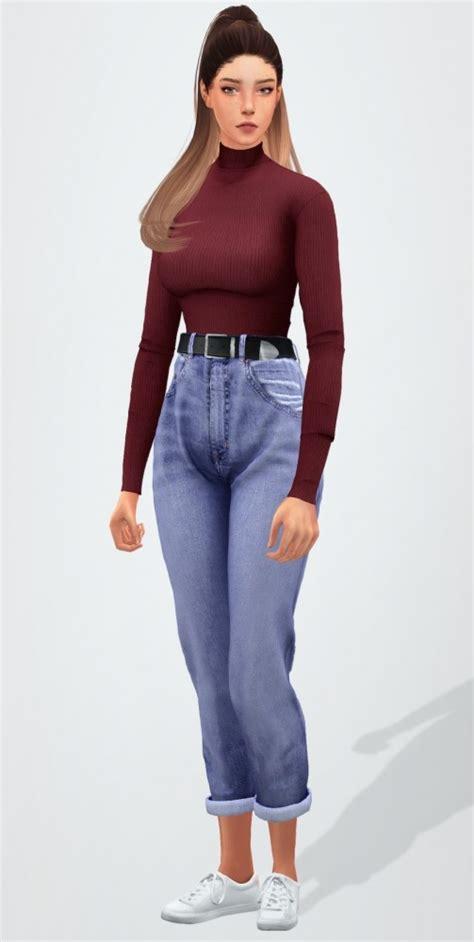 skinny turtleneck belted boyfriend jeans  elliesimple