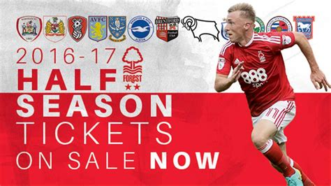 Half-season tickets on sale now - News - Nottingham Forest