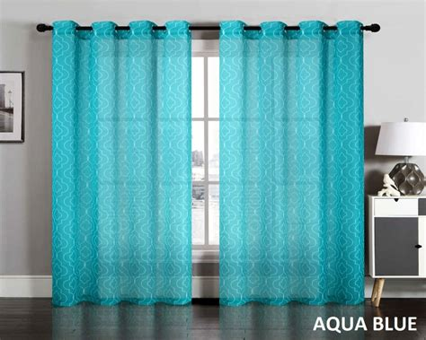 Lattice Sheer Curtain Grommet Window Panel Treatment Drape (set Of 2 Ideas For Bedroom Curtains And Blinds Sage Colored Shower Best Color With Grey Walls How To Make Curtain Ties Fabric Shabby Chic Living Room Argos Uk Christmas Sears Canada Art Nouveau