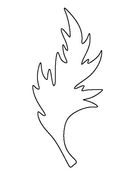 printable poppy leaf template