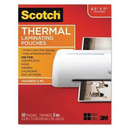 scotch pouch thermal laminator 5mm pk50 tp585450 zoro