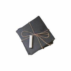 home decorators collection slate square coasters in black With furniture coasters home depot