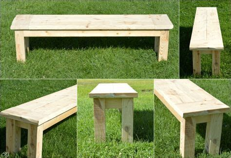super easy rustic bench   projects diy wood