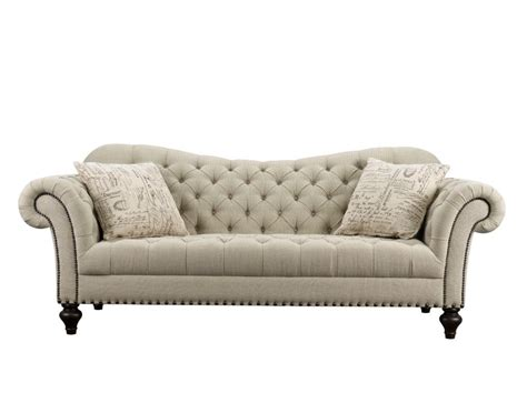 rachlin sofa for sale rachlin classics vanna traditional tufted fabric sofa