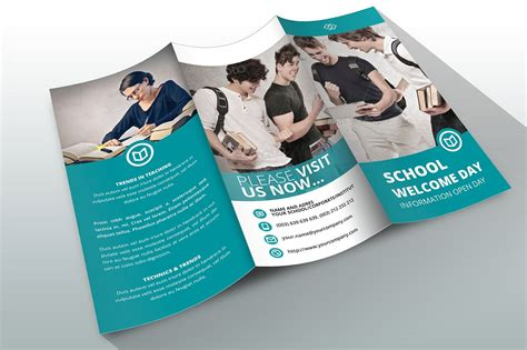 In Design Brochure Template by Indesign Brochure Template School Brochure Templates