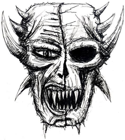 demon skull sketch  trtured sul