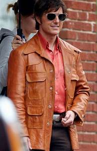 2017 Movie American Made Barry Seal leather Jacket