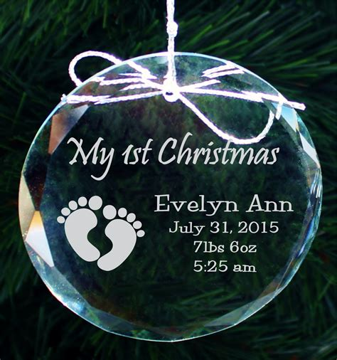 baby first christmas personalized ornament personalized baby s ornament