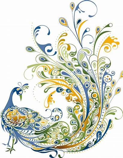 Peacock Clipart Deco Clip Background Transparent Vector