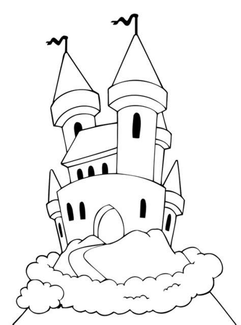 kostenlose malvorlage maerchen maerchenschloss zum ausmalen