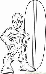 Coloring Surfer Silver Pages Super Squad Hero Cartoon Coloringpages101 Pdf Lego Results Template sketch template