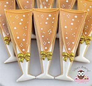 bubbly champagne glasses decorated sugar cookies for With decorated sugar cookies for weddings