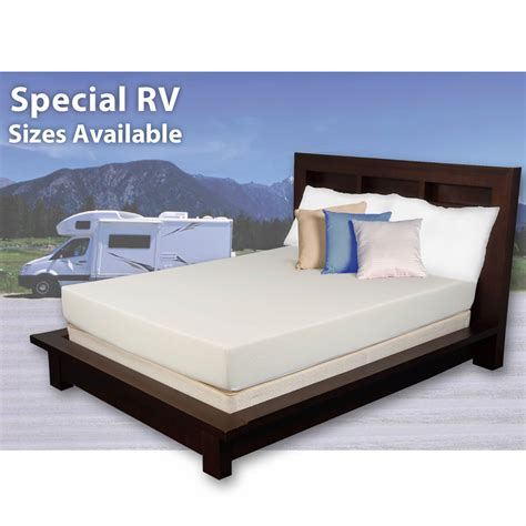 rv king mattress cradlesoft king size 8 quot memory foam rv mattress bj s