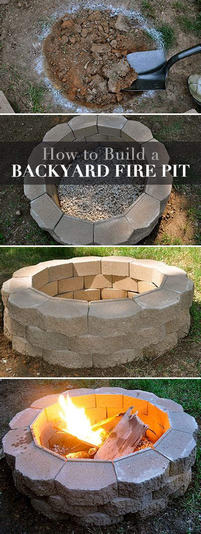 How To Build A Backyard Garden by How To Build A Back Yard Diy Pit It S Easy The