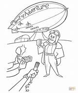 Spirit Adventure Coloring Airship Pages Blimp Movie Disney Printable Pixar Supercoloring Goodyear Template Drawing 2009 Silhouettes Getdrawings Popular Paper sketch template