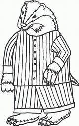 Coloring Wisconsin Badgers Pajamas Badger Pajama Printable Getcolorings sketch template