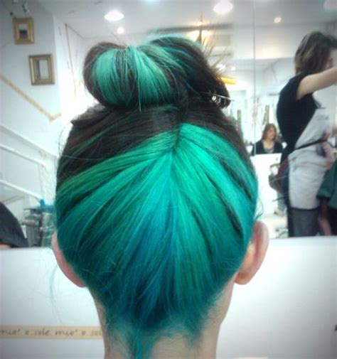 Ombre Blue Hiar Updo Dyedhair With 4637 Notes Filed