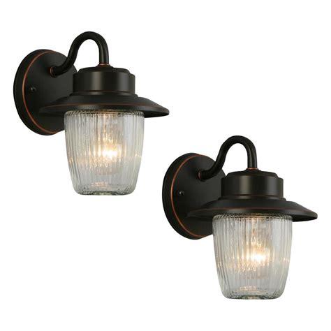 hton bay 1 light oil rubbed bronze outdoor wall lantern