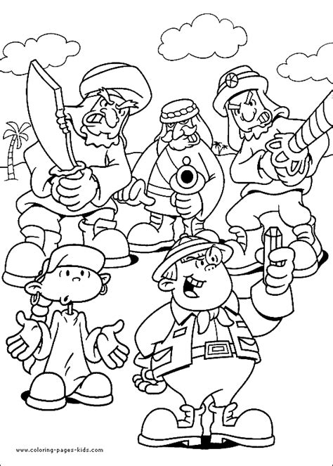 kids  door color page coloring pages  kids cartoon characters coloring pages