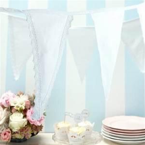 Guirlande Lumineuse Mariage : decoration mariage en blanc guirlande de fanions coton ~ Melissatoandfro.com Idées de Décoration