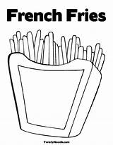 Fries Coloring French Template Printable Sheets Warhol Andy Clipart Azcoloring Batman Movie Library sketch template