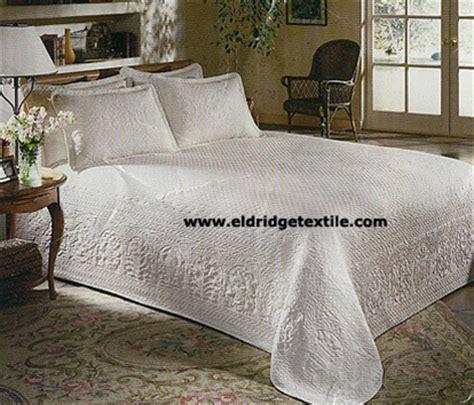 william  mary bedspread elegant woven matelasse