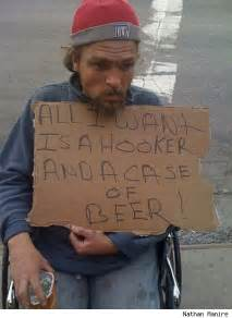 Funny Homeless People Signs
