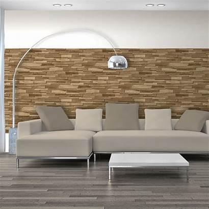Wooden Feature Wall Effect Slate Stone Modern