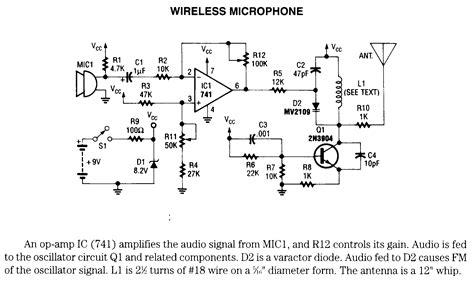 Wireless Microphone Electronic Circuits